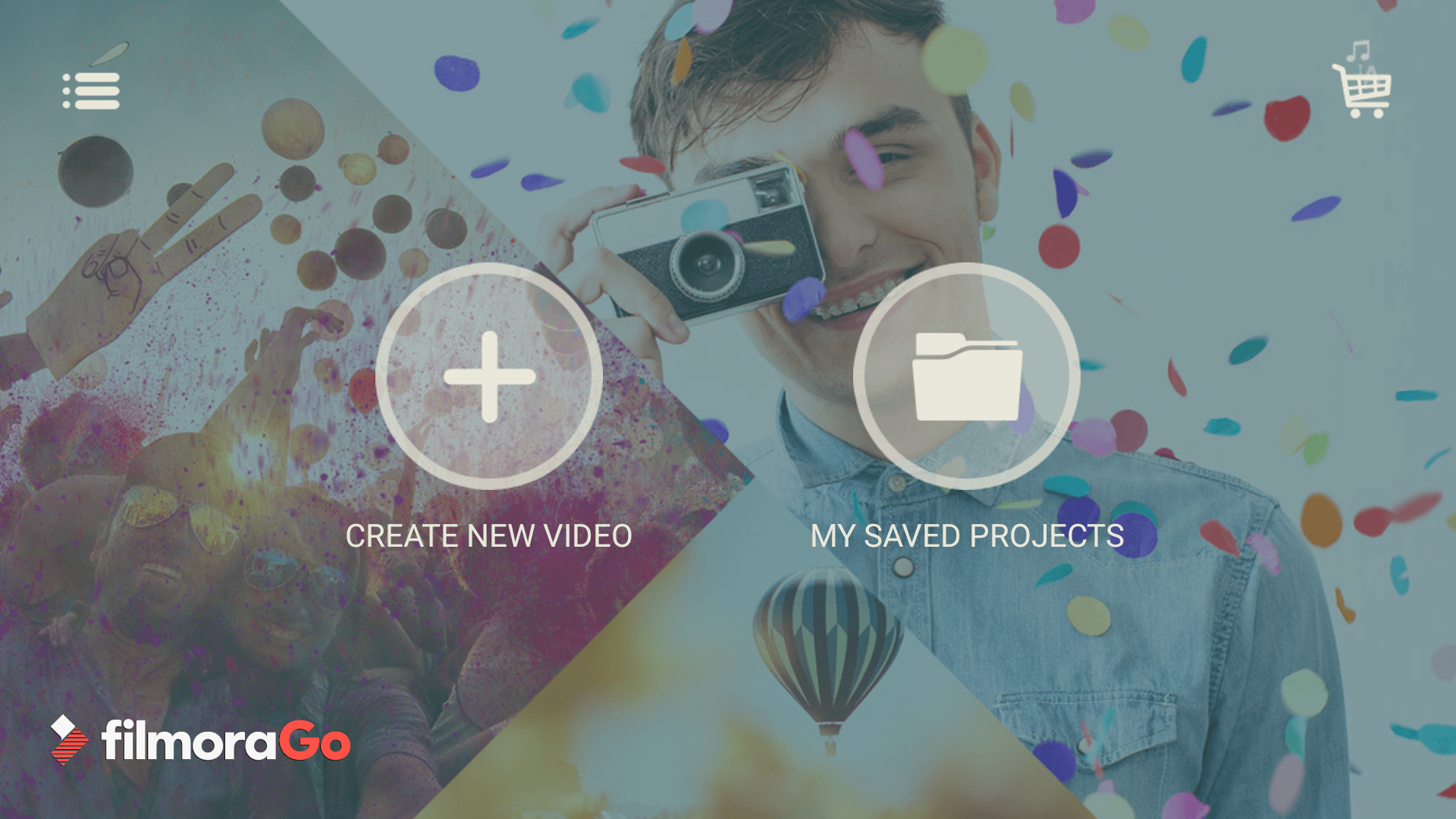 Use FilmoraGo to add an intro to your video on Android.