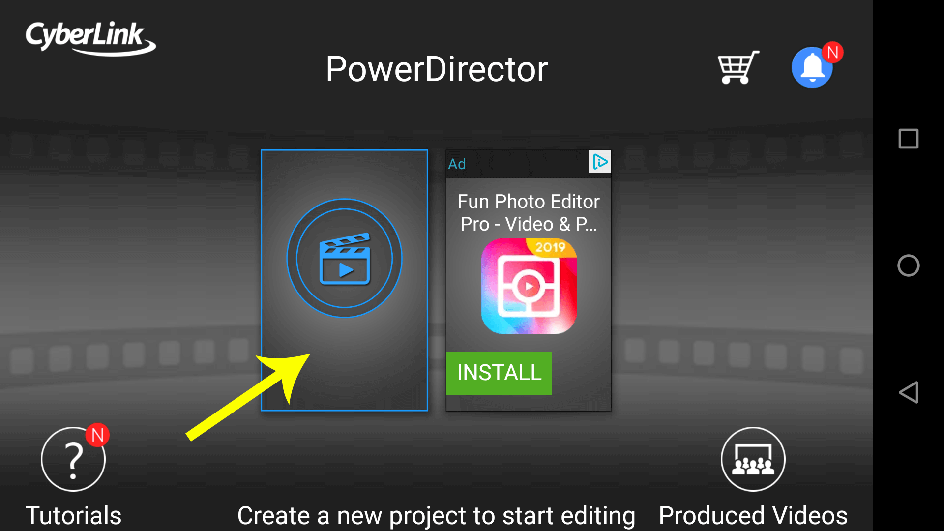 Use PowerDirector to add an intro video to your video on Android.