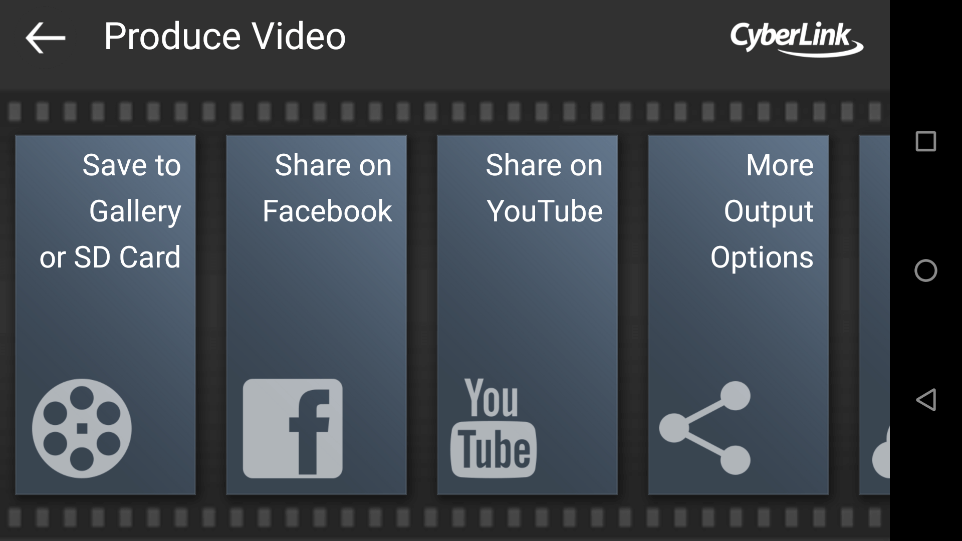 Export your video with an intro video using PowerDirector for Android.