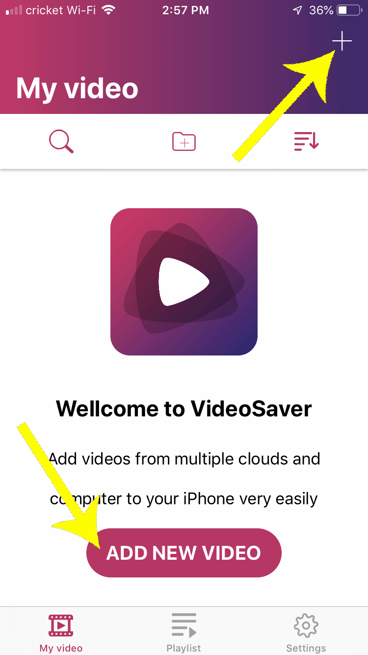 Use Video Saver to save your intro video to your iPhone.