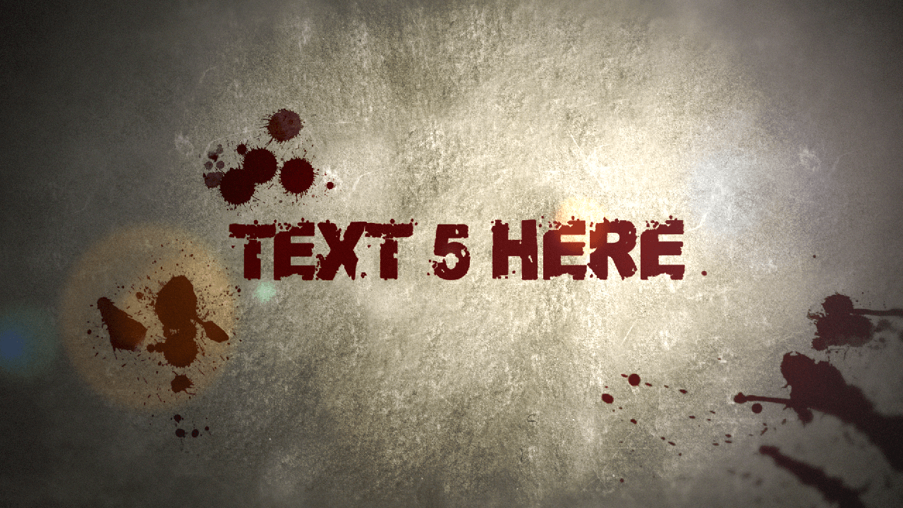 Customize the text for Blood Drops Titles to view your free intro movie.