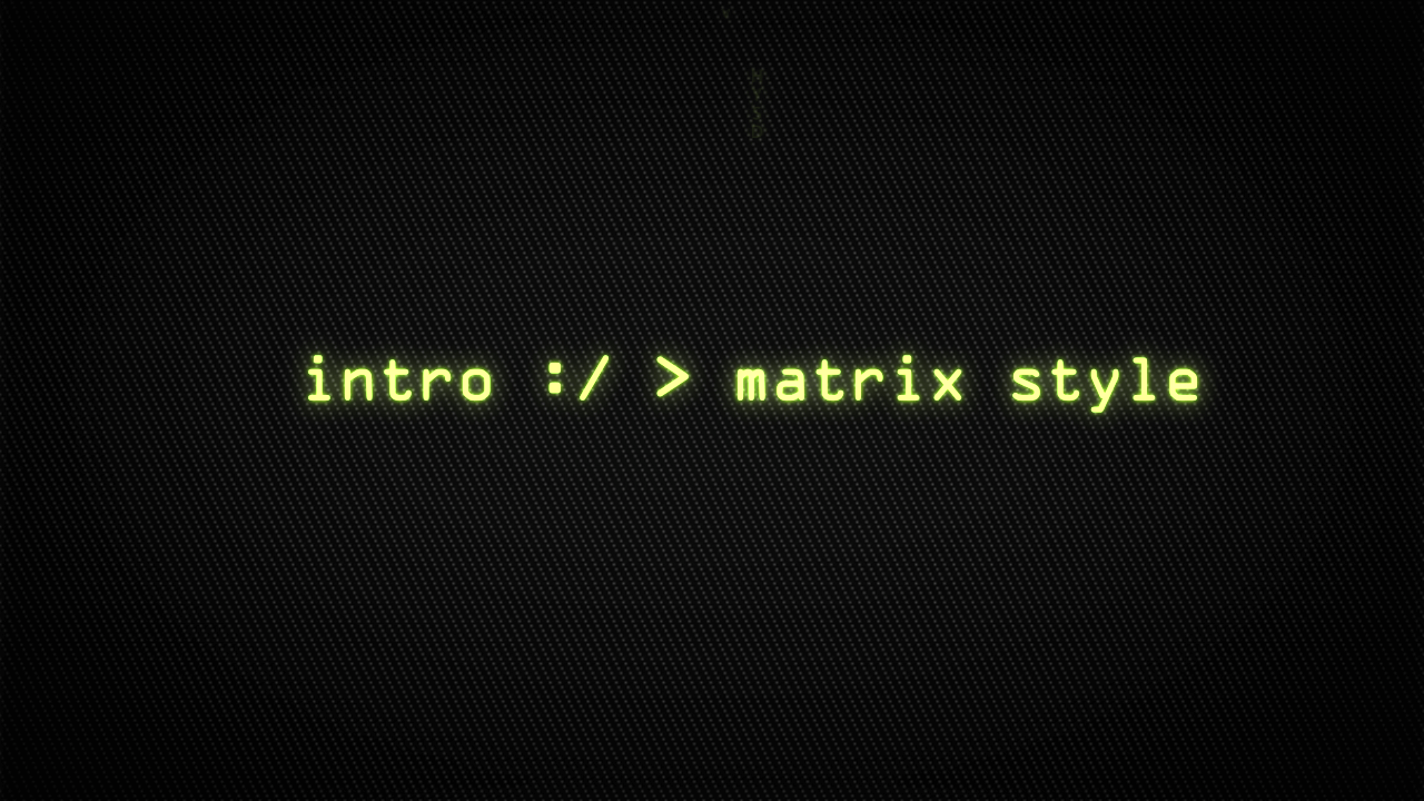 Customize the text for Computer Matrix Titles to view your free intro movie.