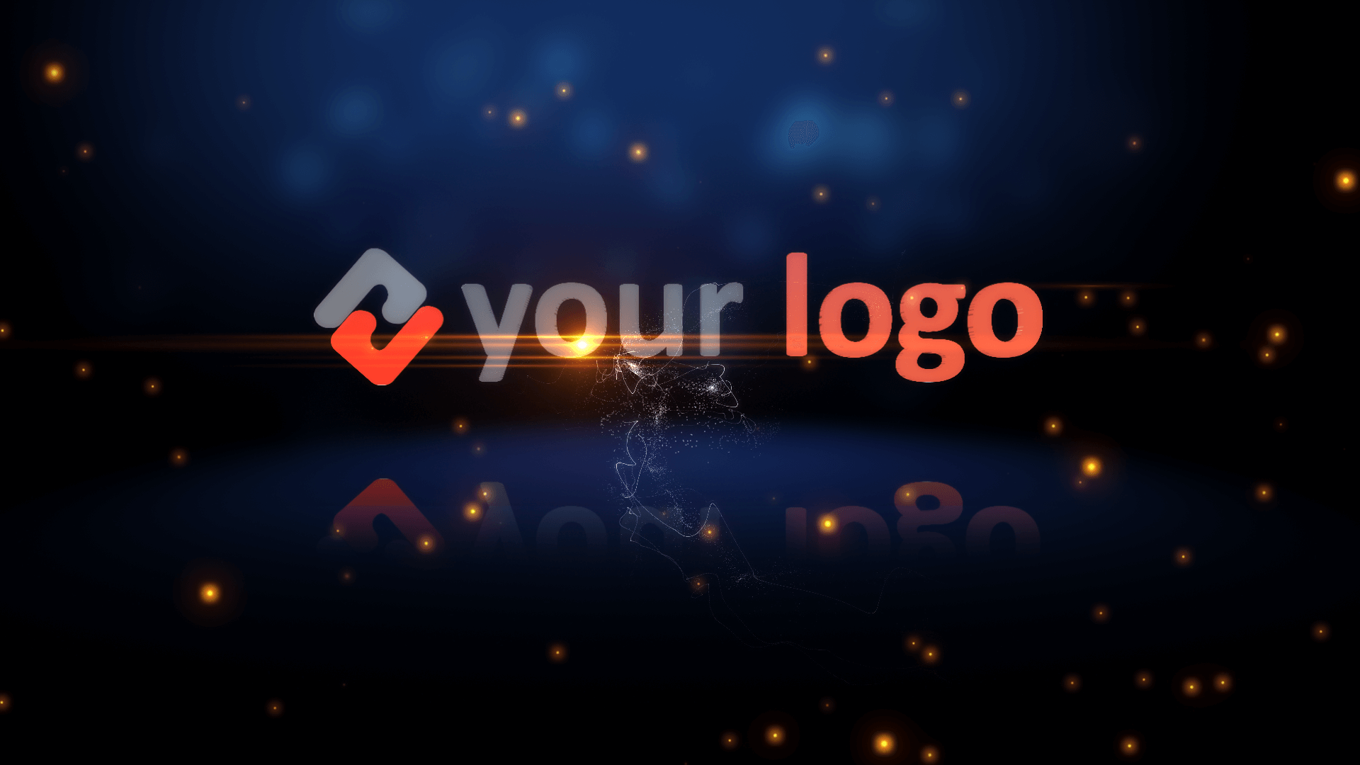 Customize Particle Union - Logo with your own logo or image to view your free intro movie.