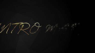 Dark Luxury Gold Text