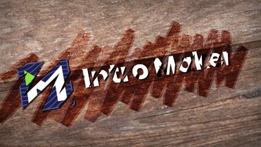 Wooden Logo Wide