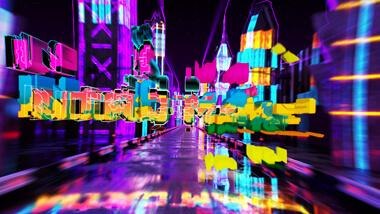 Neon City Text