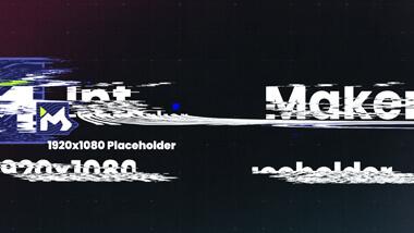 Short Digital Glitch Screen