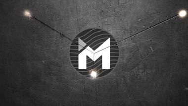 Scratched Metal Circle Logo